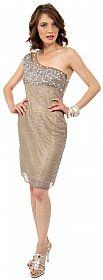One Shoulder Exquisite Beading Short Formal Prom Dress  #10134