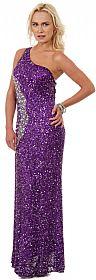 Long Sequined Formal Prom Dress with Rhinestones Waist #10139