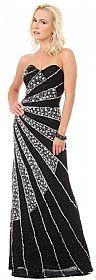 Strapless Sequins & Rhinestones Long Formal Prom Dress #10155