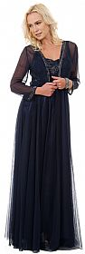 Plus Size Full Length Formal MOB Evening Gown with Jacket #1131