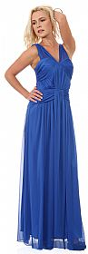 Ruched Bodice Long Formal Bridesmaid Evening Dress #11442