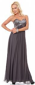 Strapless Sequins Bust Long Formal Bridesmaid Dress #11447