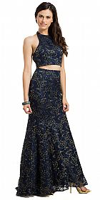 Lace Halterneck Mermaid Evening Gown #11777