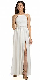 Crop Top Two Piece Evening Gown with Slit #11780