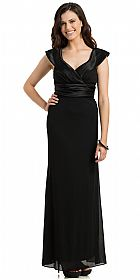 Sabrina Neck Pleated Evening Prom Gown #11783