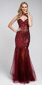 Long Embellished Halter Tulle Prom Dress #a259