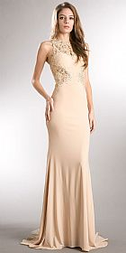 Beaded Lace & Mesh Bodice Long Prom Pageant Dress #a359