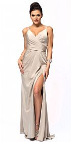 Double Spaghetti Straps Overlay Bodice Prom Dress #a366