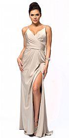 Double Spaghetti Straps Overlay Bodice Prom Dress #a366