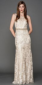 Boat Neck Shiny Rose Lace Long Formal Prom Dress #a445