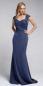 Sweatheart Neckline Embroidered Evening Gown #a783