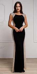Silhouette Styles Prom Gown with Rhinestone Accents #a785