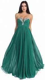 Strapless Rhinestone Bust Long Formal Prom Dress #p8693