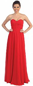 Strapless Twist Knot Bust Formal Bridesmaid Dress #p8789