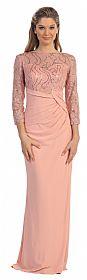 Bateau Neck Sequins Bodice Long Formal MOB Dress #p9046