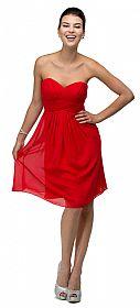 Strapless Pleated Bodice Short Bridesmaid Graduation Dress #p9056