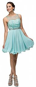 Sparkling Jewels Bodice Short Homecoming Party Dress #p9459
