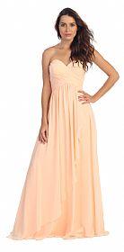Strapless Crossed Bodice Wrap Skirt Formal Bridesmaid Dress #s596