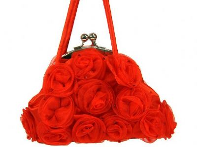 Rose Flower Evening Bag Clasp Style