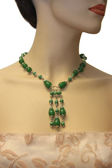 Beautifully Designed Green Necklace