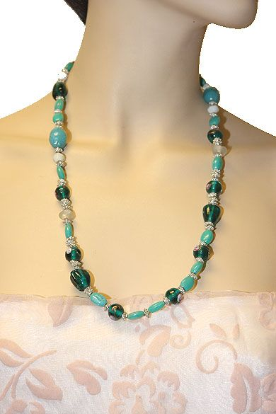 Emerald Green Fashion Necklace