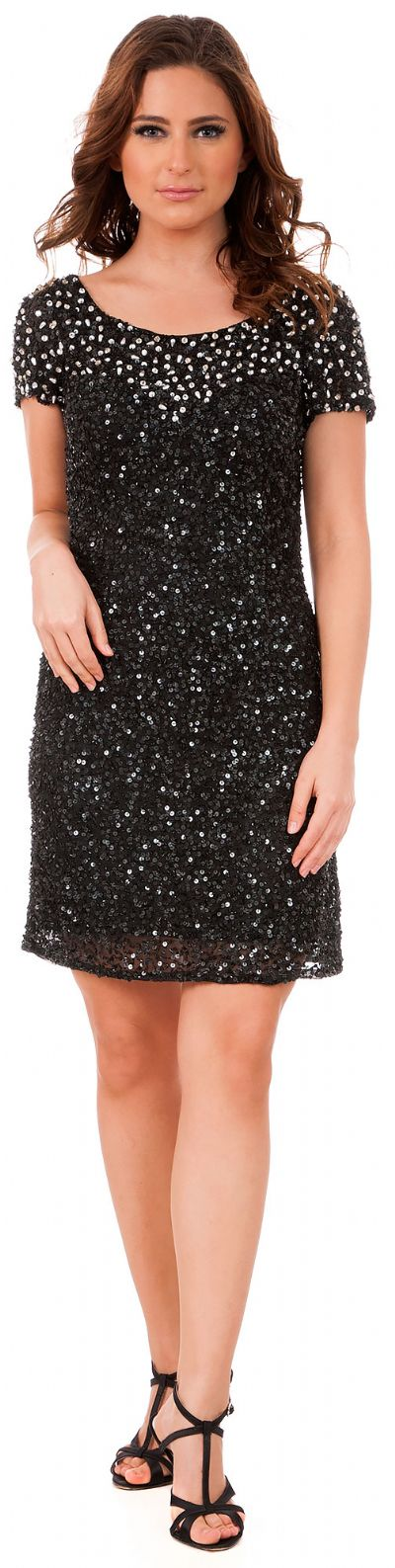 Short Sequins Homecoming Prom Dress with Keyhole Back