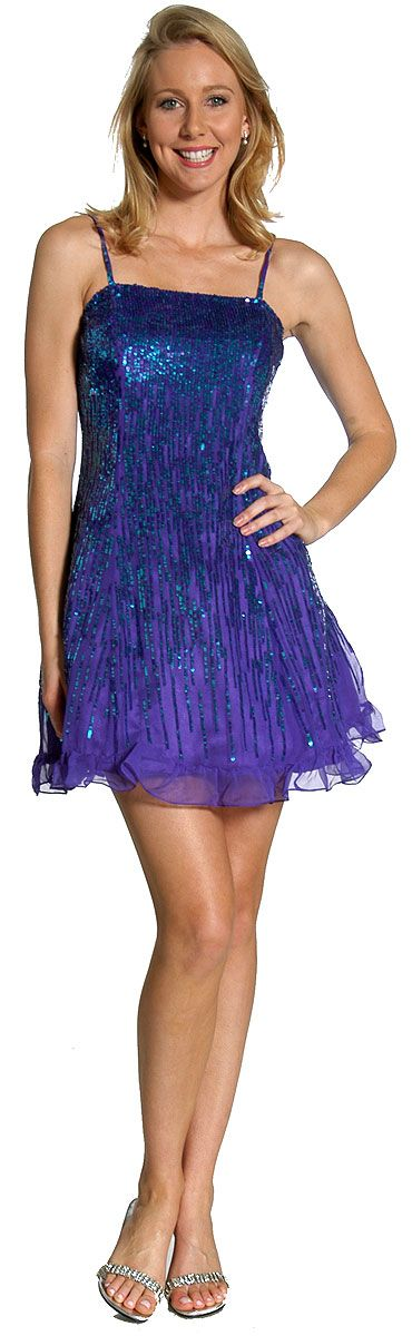 Sequin Glittered Prom Dress