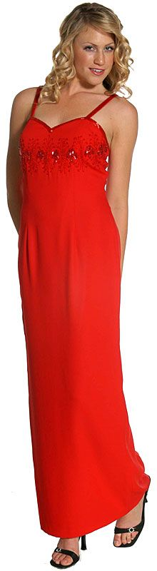 Slim Cut Full Length Formal Dress