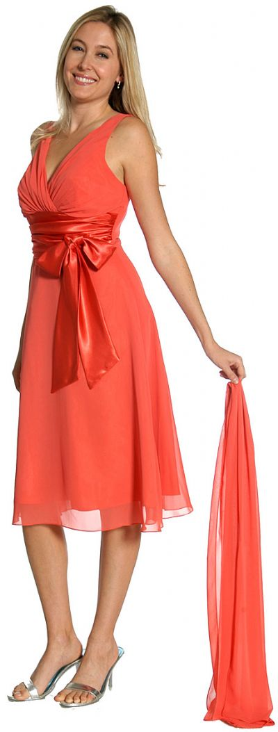Satin Bow Cocktail Party Dress