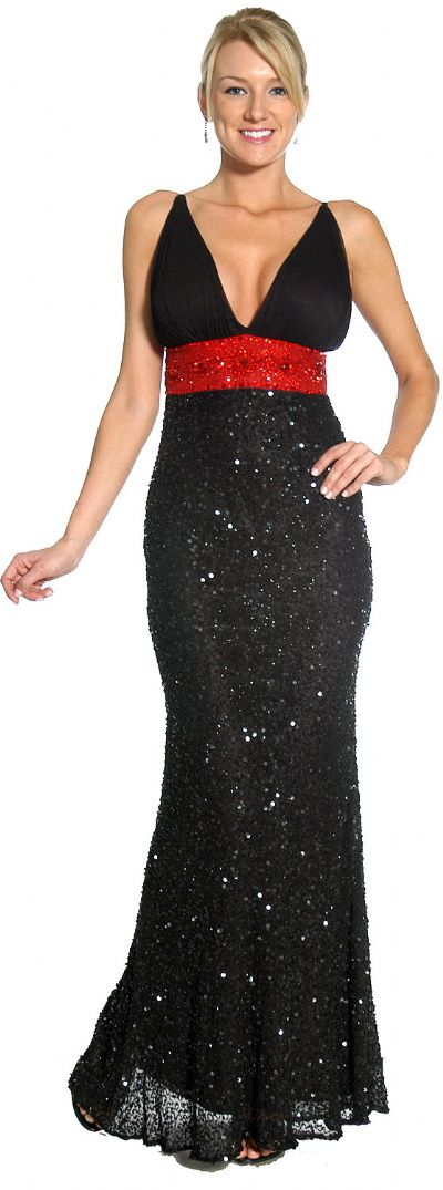 Roman Inspired Empire Cut Beaded Formal Prom Gown