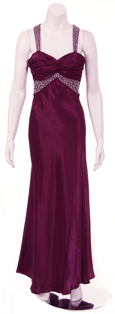 Bejeweled Halter Neck Formal Evening Dress