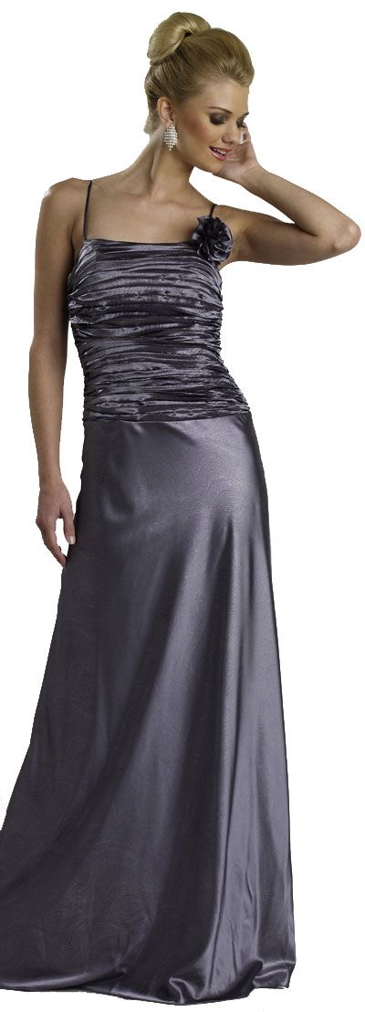 Shirred Bodice Formal Evening Dress
