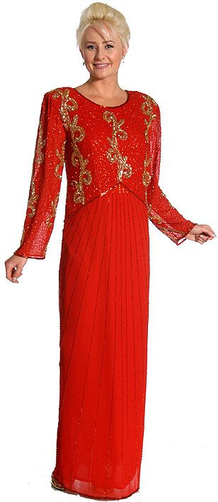 Full Length Beaded Formal Dress