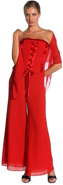 Two Piece Corset Pant Dress