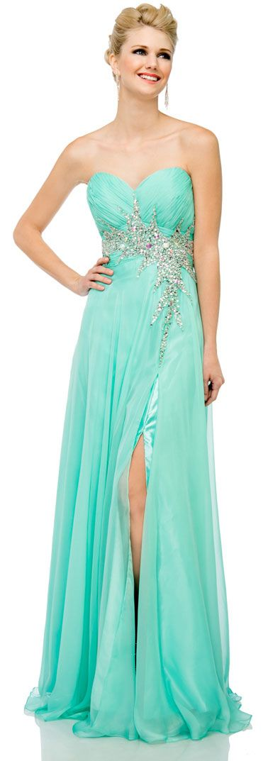 Sweetheart Neck Strapless Long Formal Prom Dress