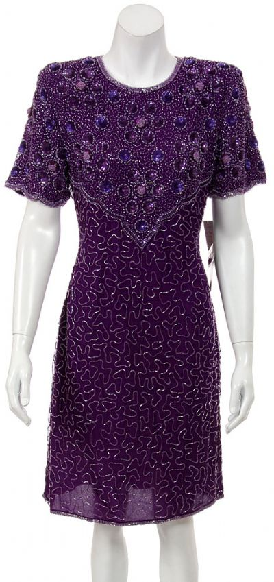 Sequined Short Formal dress with Keyhole back