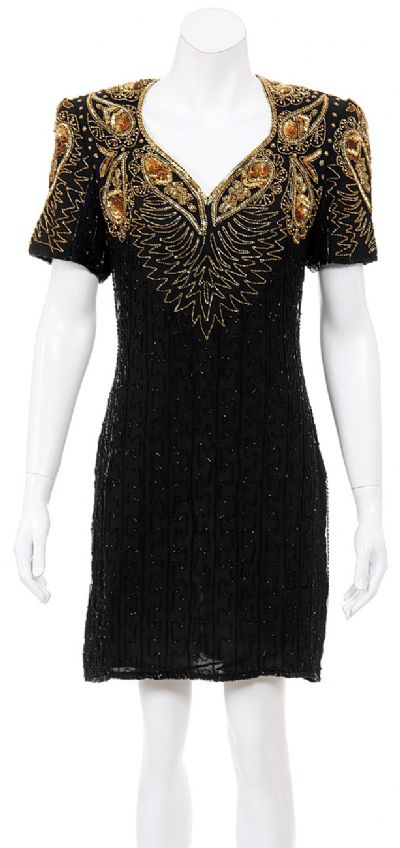 Hearty Drops Hand Beaded/Sequined Dress