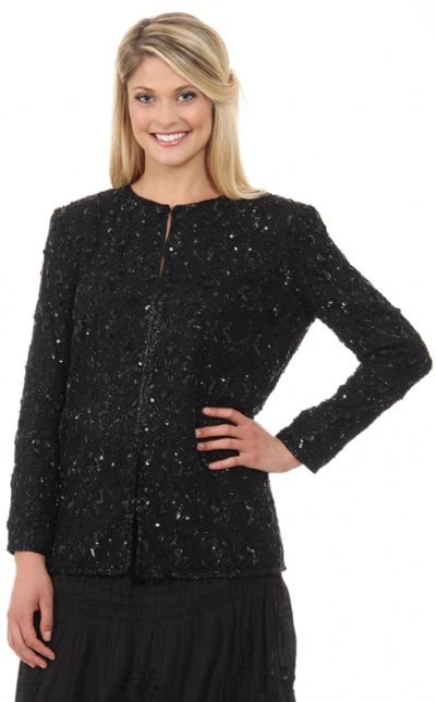 Round Shaped Beaded Design Jacket