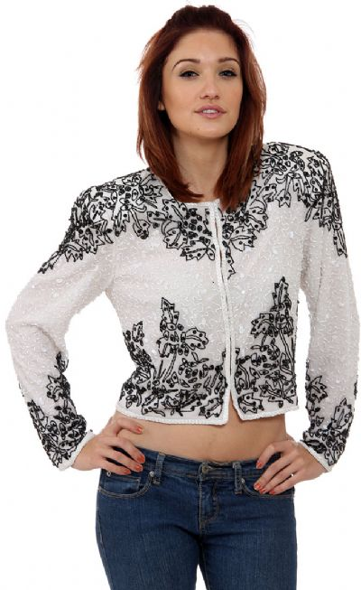 Mistletoe Hand Beaded Jacket
