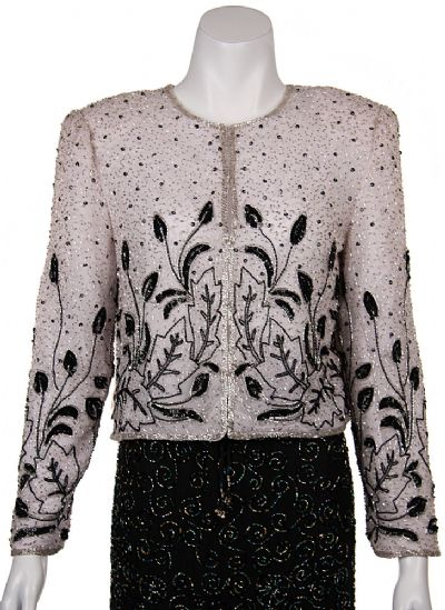 Floral Pattern Beadwork Jacket