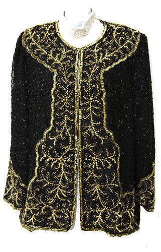 Full-Sleeved Beaded Jacket