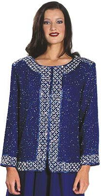 Bordered Beaded Jacket