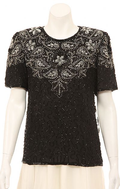 Pull-over Sequin Beaded Top