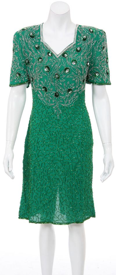 Floating Drops Hand Beaded and Sequined Dress