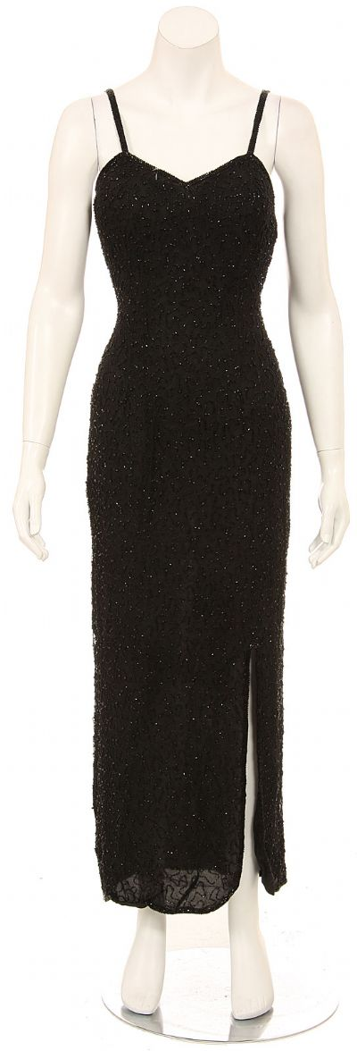 Dark Night Hand Beaded Long Formal Dress