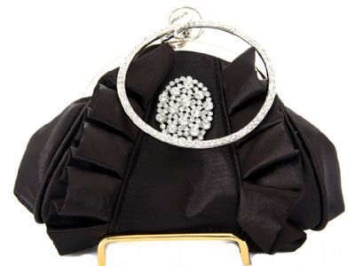 Hold and Shine Evening Bag In Black