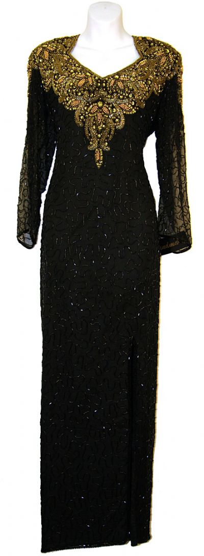 Full Sleeve Sequined Mother of the Bride Dress
