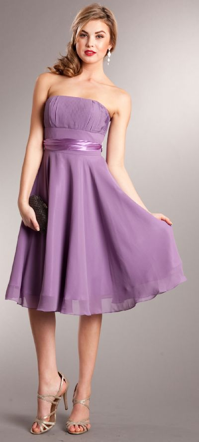 Strapless Bridesmaid dress with detachable sash