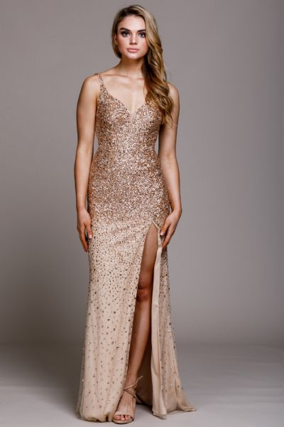 Sweetheart Neckline Sequin Prom Gown