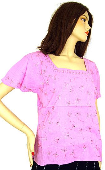 Half Sleeve Embroidered Top
